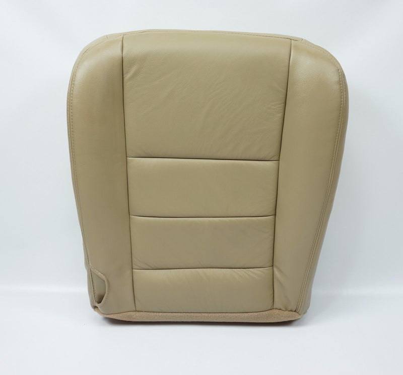 2002 To 2007 Ford F250 F350 Lariat XL XLT Driver Bottom Leather Seat Cover TAN - Auto Seat Replacement