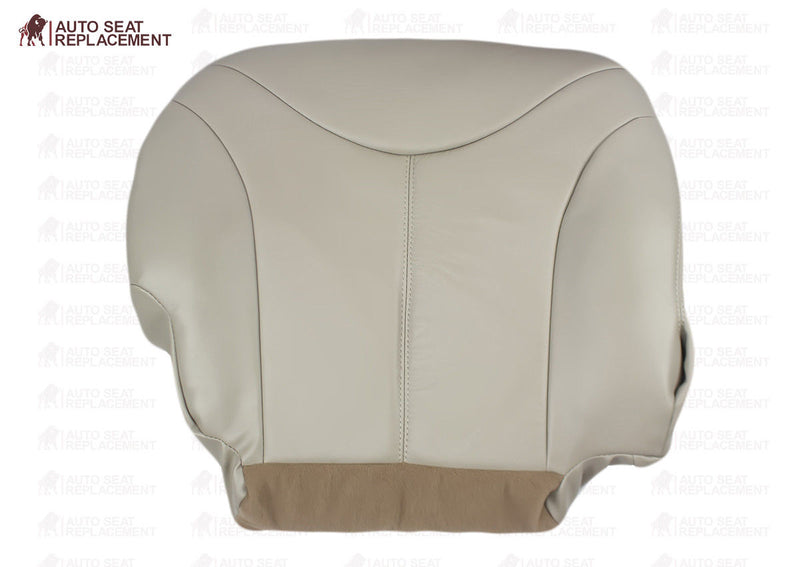 2000 01 2002 GMC Yukon XL 2500 Quadrasteer SLT SLE Driver Bottom Seat Cover Tan - Auto Seat Replacement