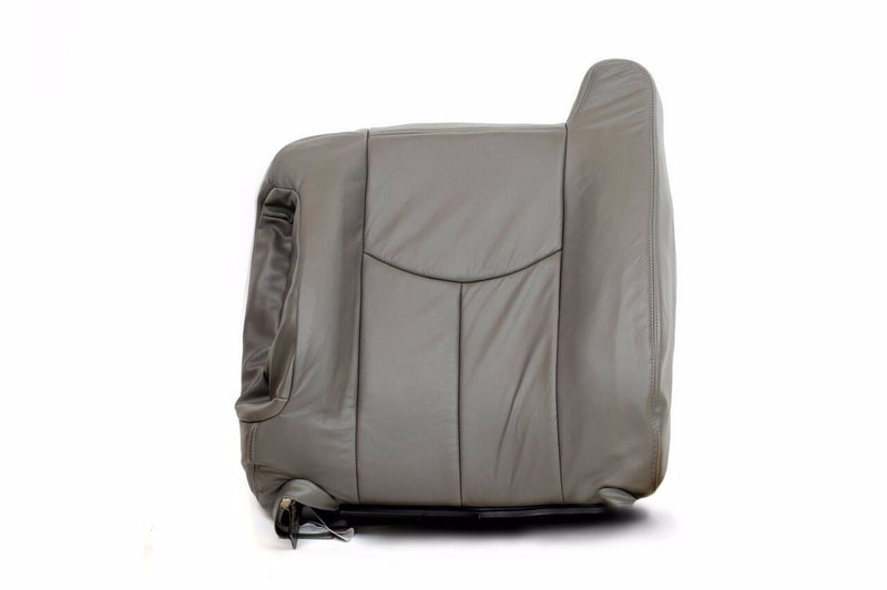 2003 2004 2005 2006 Chevy Tahoe& Suburban- Silverado Top Leather Seat Cover Gray - Auto Seat Replacement