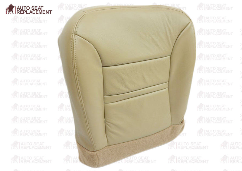 2000 2001 Ford Excursion Limited XLT  Bottom Leather Seat Cover Replacement Tan - Auto Seat Replacement