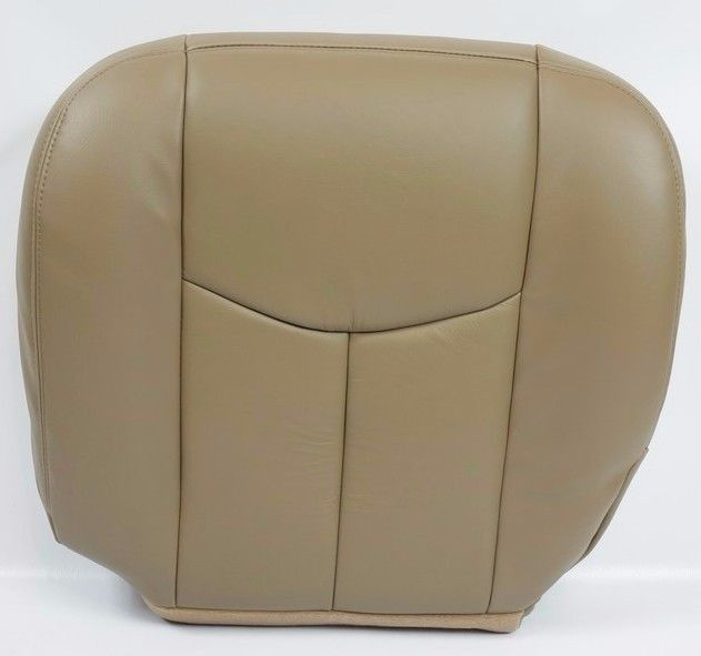 2003 2004 2005 2006 2007 GMC Sierra 1500 2500 3500 HD SLT SLE Driver Side Bottom LEATHER Seat Cover TAN 522 Auto Seat Replacement