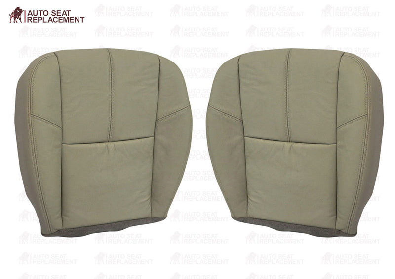2007 2008 2009 2010 2011 2012 Chevy Silverado Bottom Leather Seat Cover Tan - Auto Seat Replacement