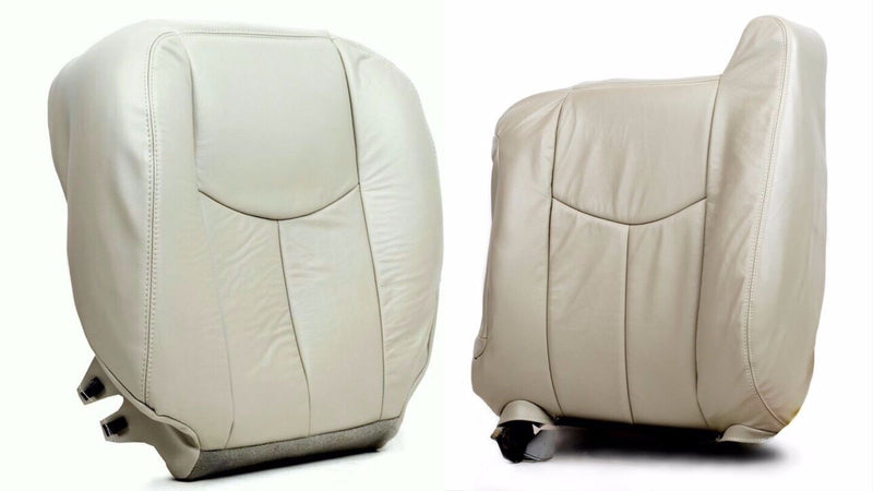 2003 To 2006 Chevy Tahoe Suburban Driver Bottom & Lean Back (Top) Seat Cover Tan - Auto Seat Replacement