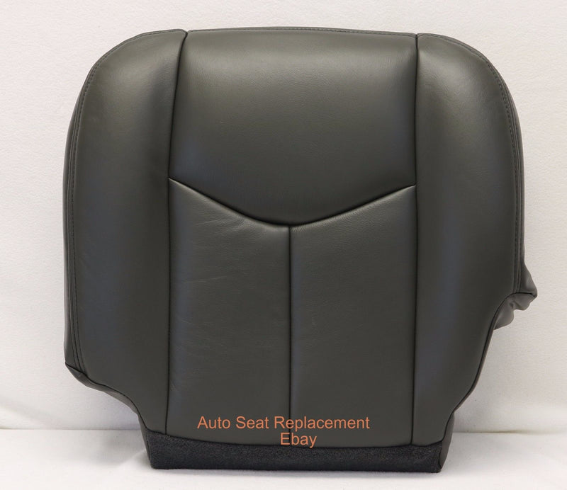 2006 2005 2004 2003 Chevy Silverado Bottom + Top Back Seat Cover Dark Gray Vinyl - Auto Seat Replacement