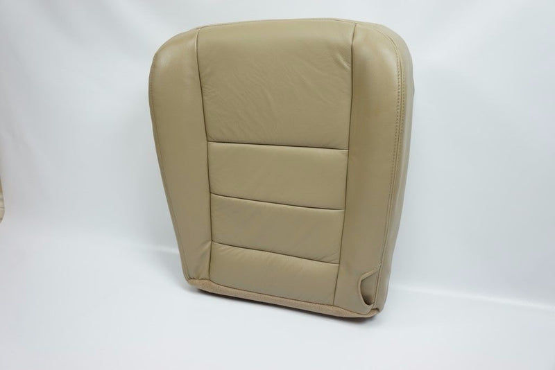 "2002 - 2007 Ford F250 F350 Lariat Bottom Leather Seat Cover Passenger side TAN"" - Auto Seat Replacement"