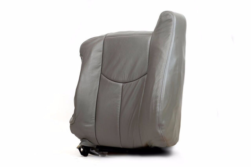 2003 2004 2005 2006 GMC Yukon Top Lean Back Leather Seat Covers Gray# 922 Pewter - Auto Seat Replacement