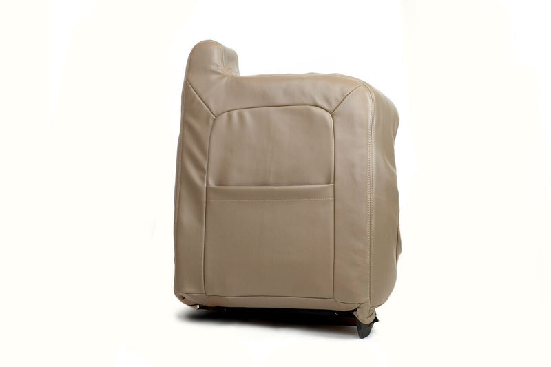 2003 2004 2005 06 GMC Sierra 1500 2500 3500 Lean Back LEATHER Seat Cover TAN - Auto Seat Replacement