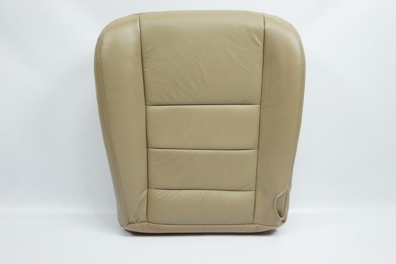 2002-2007 Ford F250 F350 Lariat Driver& Passenger Bottom Leather Seat Cover Tan - Auto Seat Replacement
