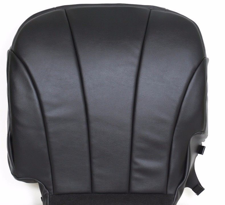 2000 2001 2002 Chevy Silverado Work Truck WT Driver Vinyl Seat Cover Dark Gray - Auto Seat Replacement