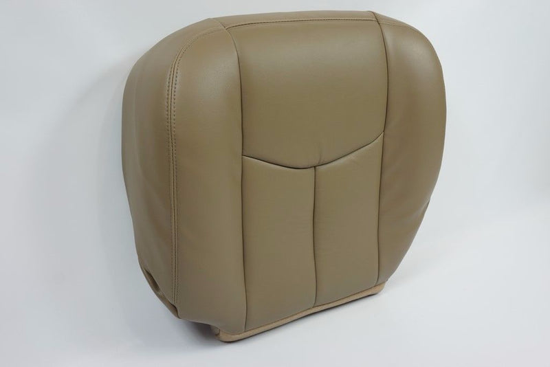 2006 2005 2004 2003 GMC Sierra  Driver Bottom Replacement LEATHER Seat Cover TAN - Auto Seat Replacement