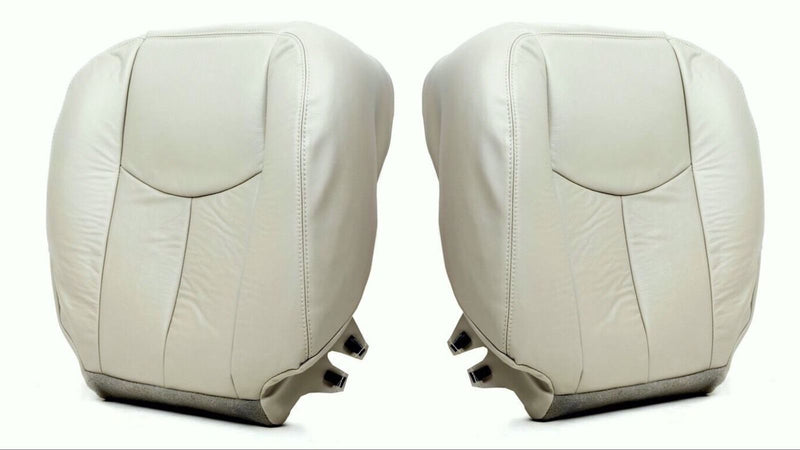 2003 to 2006 Chevy Tahoe Suburban Driver and passenger Bottom Seat Cover Tan#522 - Auto Seat Replacement