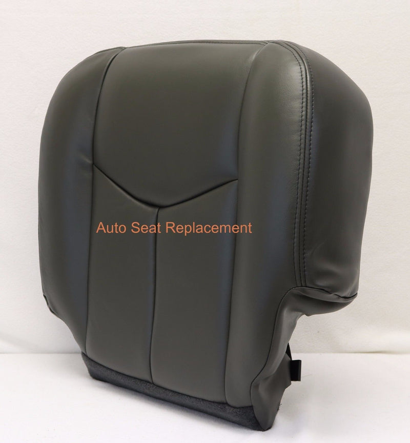003 To 2006 Chevy Silverado Passenger Bottom-Top Back Seat Cover Dark Gray Vinyl - Auto Seat Replacement