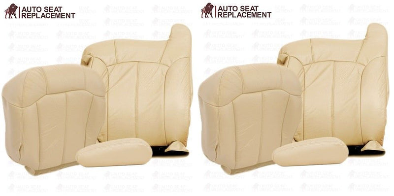 2002 2001 2000 Chevy Tahoe Suburban Suburban Front Seat Cover Package Light  Tan