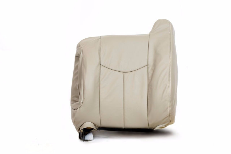 2003 2004 2005 2006 GMC Yukon Driver Lean Back Seat Cover Light Tan Vinyl #522 - Auto Seat Replacement