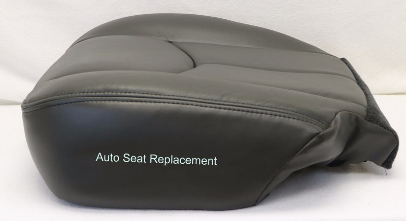 2003 2004 2005 2006 Chevy Silverado Driver Bottom Leather Seat Cover Dark Gray - Auto Seat Replacement