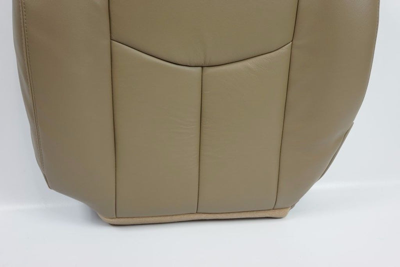 2006 2005 2004 2003 GMC Sierra Driver Side Bottom LEATHER Seat Cover TAN - Auto Seat Replacement