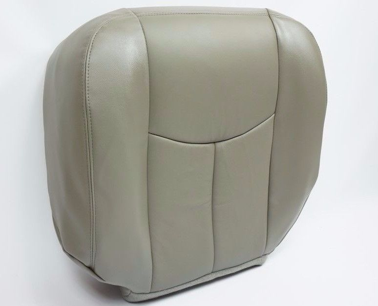 2003 2004 2005 2006 Chevy Tahoe Suburban Driver Bottom Seat Cover Gray vinyl - Auto Seat Replacement