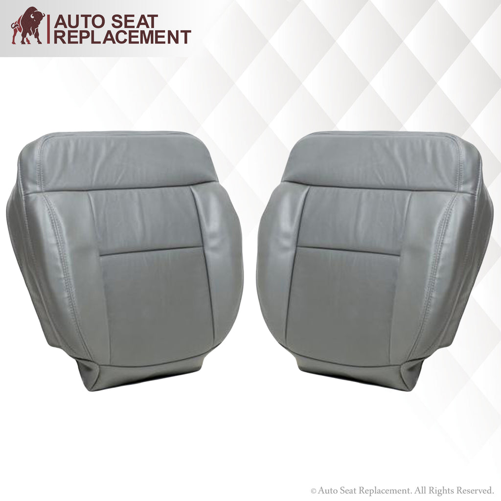 2004-2008 Ford F150 Seat Cover in Gray: Choose Leather or Vinyl