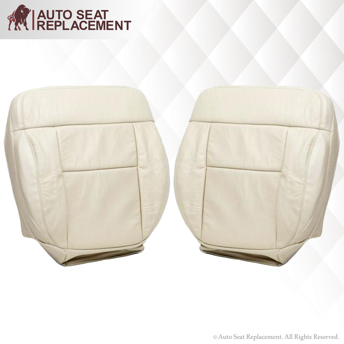 Heated 2004 Ford F150 Driver Bottom Replacement Leather Seat Cover Light Tan