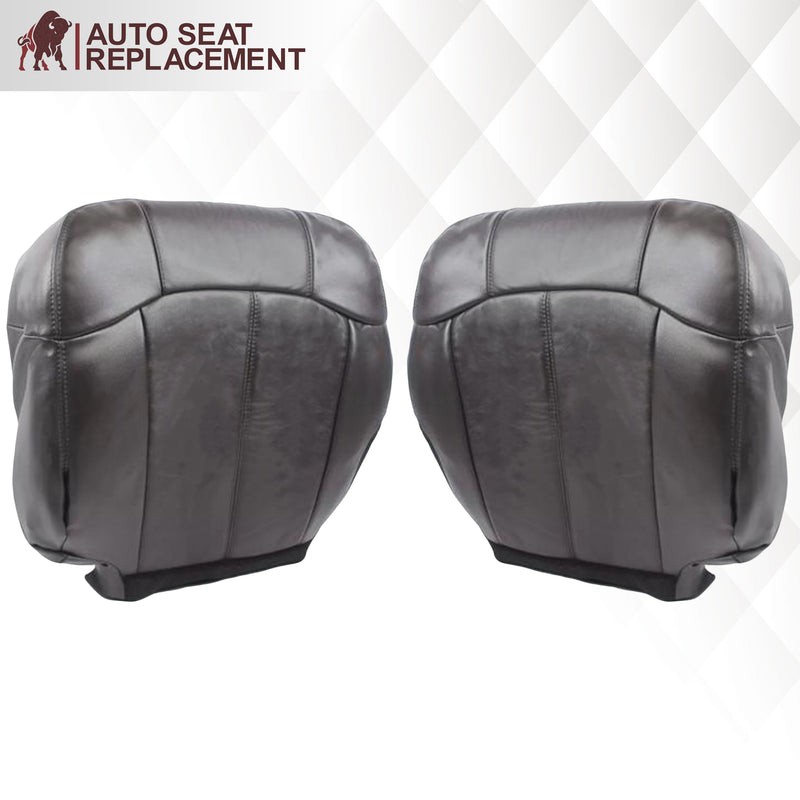 1999 2000 2001 2002 GMC Sierra leather Seat Cover Replacement Dark Graphite Dark Gray
