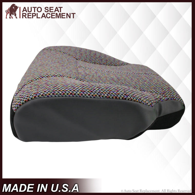 1998-2002 Dodge Ram 2500 3500 SLT Laramie Seat Cover in Agate Dark Gray Cloth: Choose From Variation