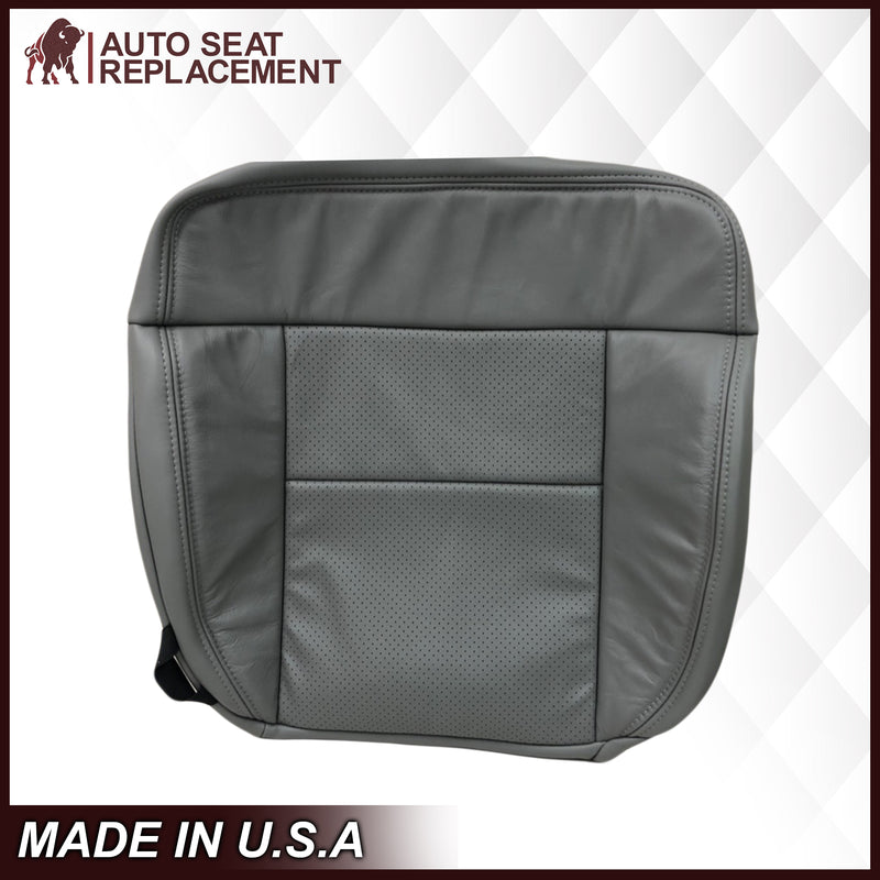 2004-2008 Ford F150 Perforated Seat Cover in Gray: Choose Leather or Vinyl