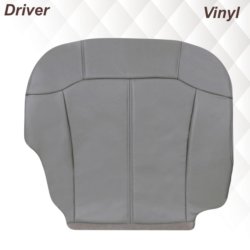 1999 2000 2001 2002 GMC Sierra leather Seat Cover Replacement Pewter Gray Auto Seat Replacement