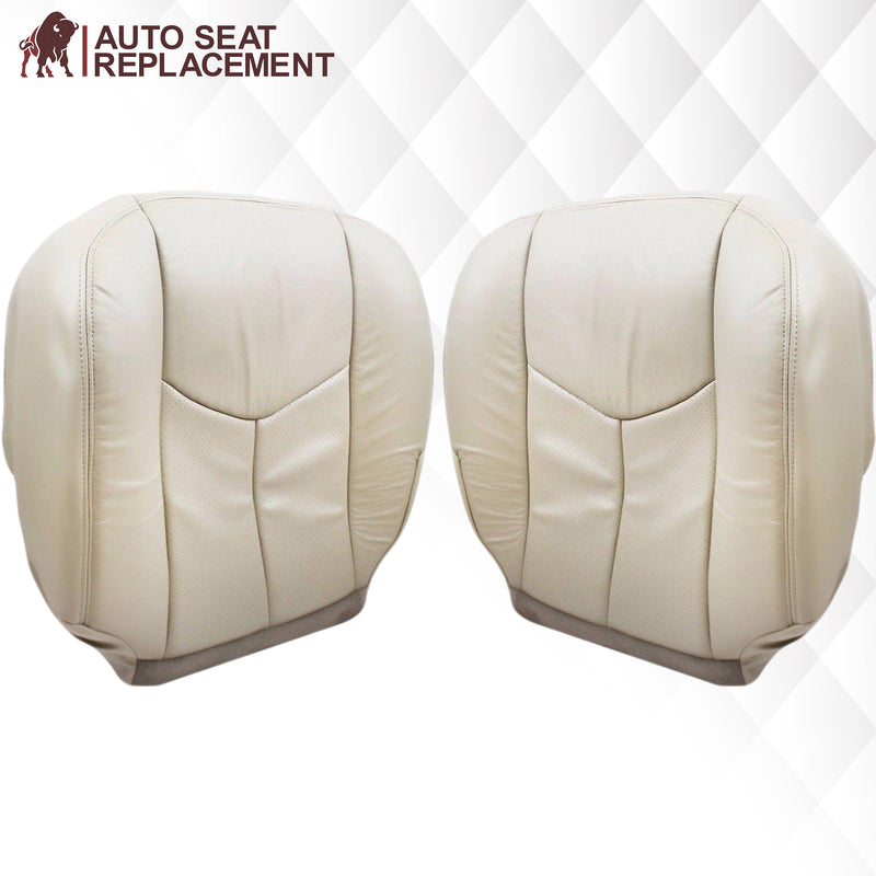 2003 2004 2005 2006 cadillac escalade driver passenger bottom back rest leather vinyl seat cover replacement in tan Auto Seat Replacement