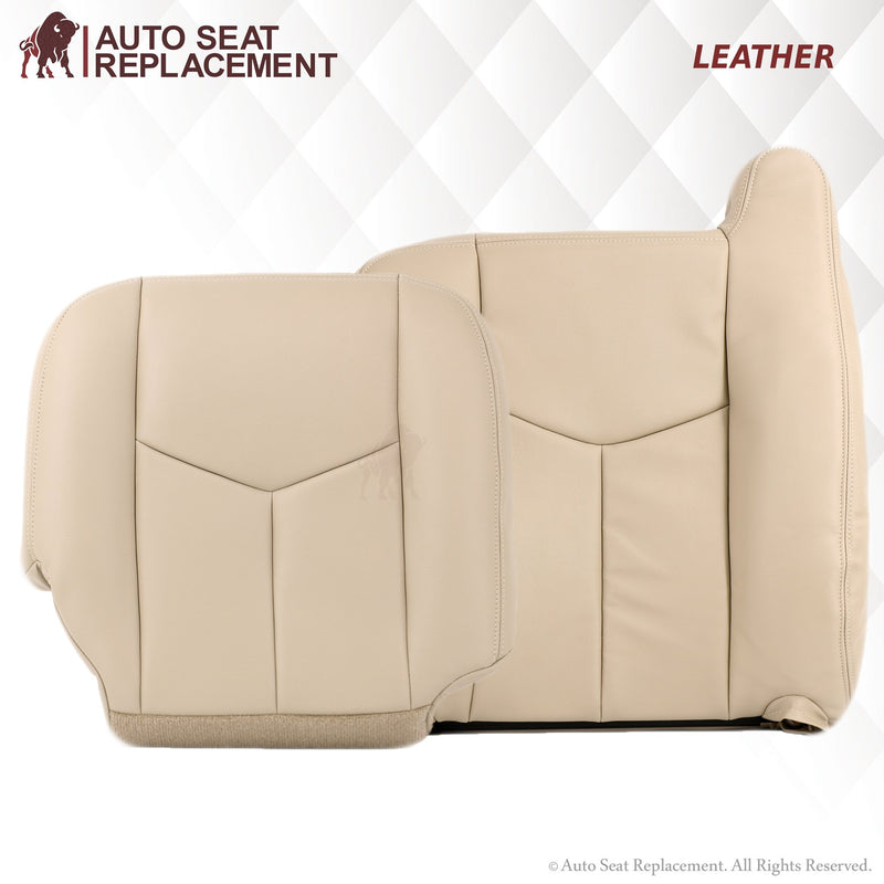 2003-2006 Chevy Tahoe & Suburban Leather or Vinyl Seat Cover:  Driver & Passenger, Bottom/Top/Lean Back, Tan - Auto Seat Replacement