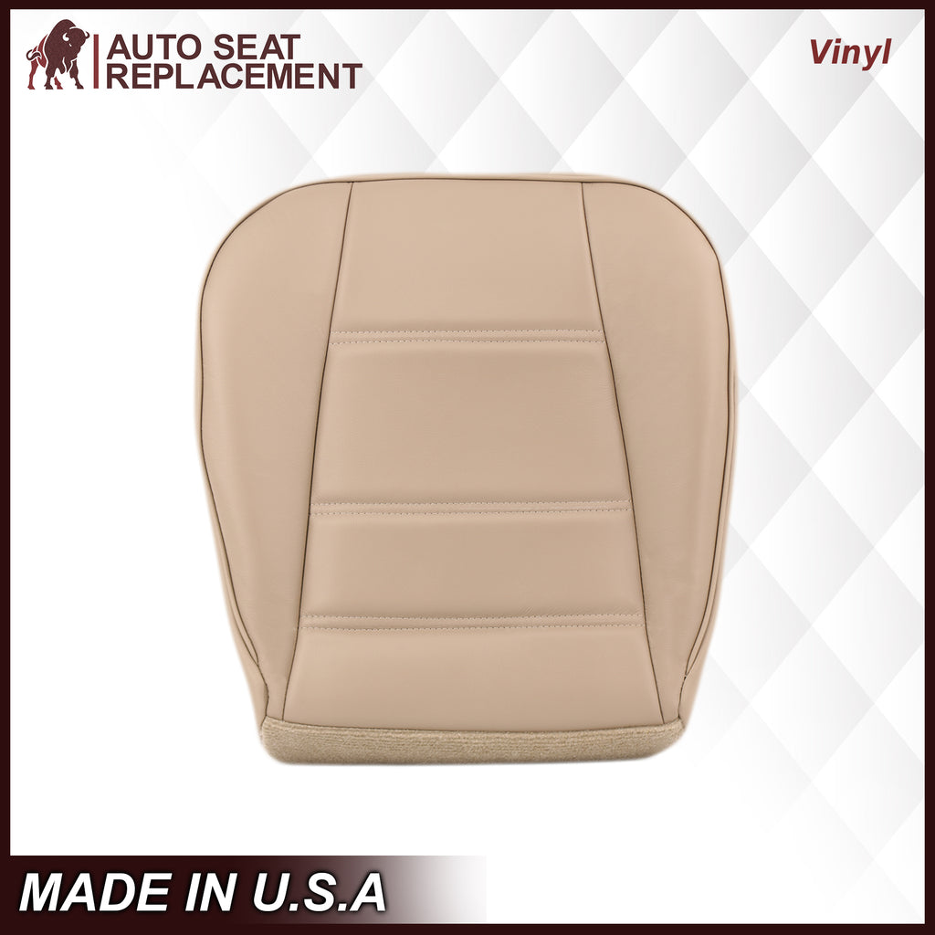 1999-2004 Ford Mustang V6 Seat Cover in Medium Parchment Tan: Choose From Variation