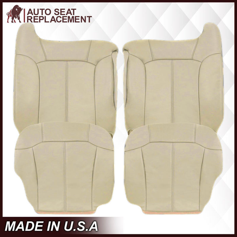 2000-2002 Chevy Tahoe/Suburban Seat Cover in Light Shale Tan: Choose From Variations