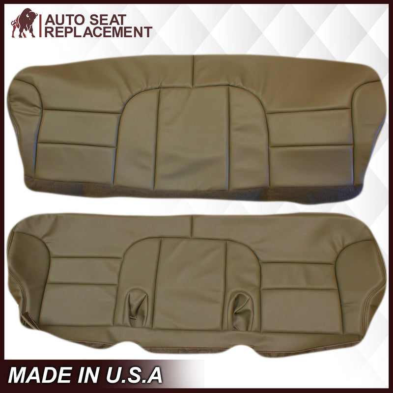 1995-1999 Chevy Tahoe Suburban Silverado 2nd Row Bench Seat Cover in Tan: Choose your options