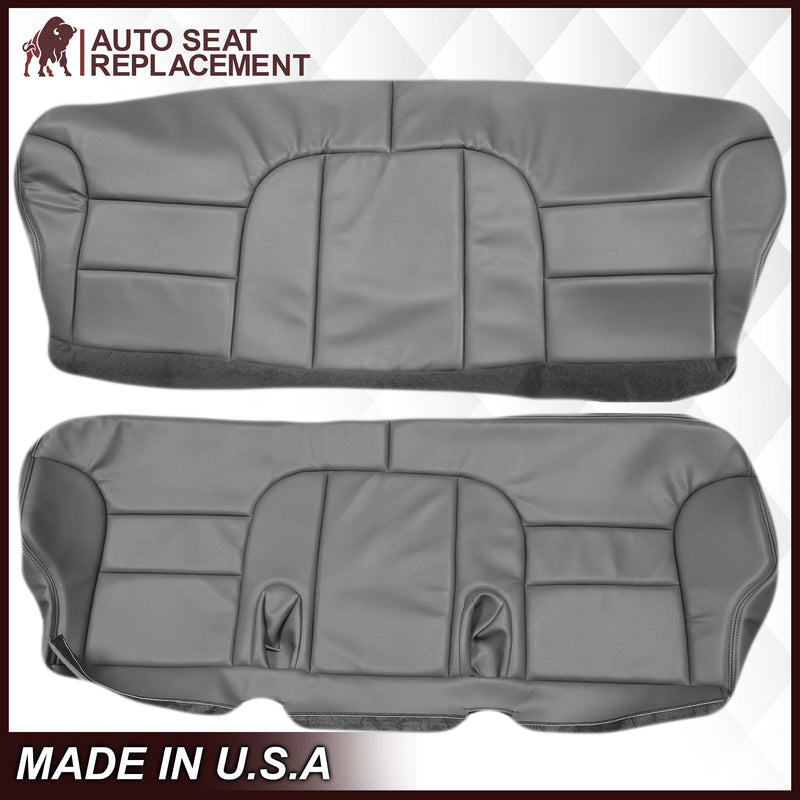 1995-1999 Chevy Tahoe Suburban Silverado 2nd Row Bench Seat Cover in Gray: Choose your options