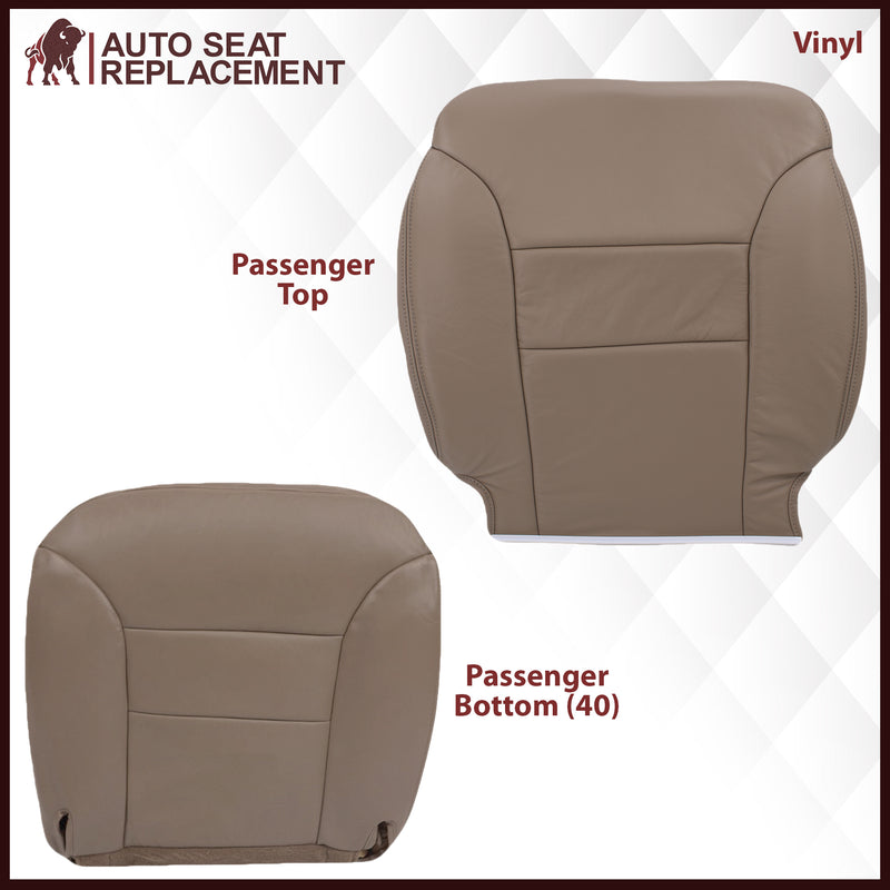 1995-1999 GMC Yukon/Sierra Seat Cover in Tan (60/40 Bench Bottoms): Choose your options