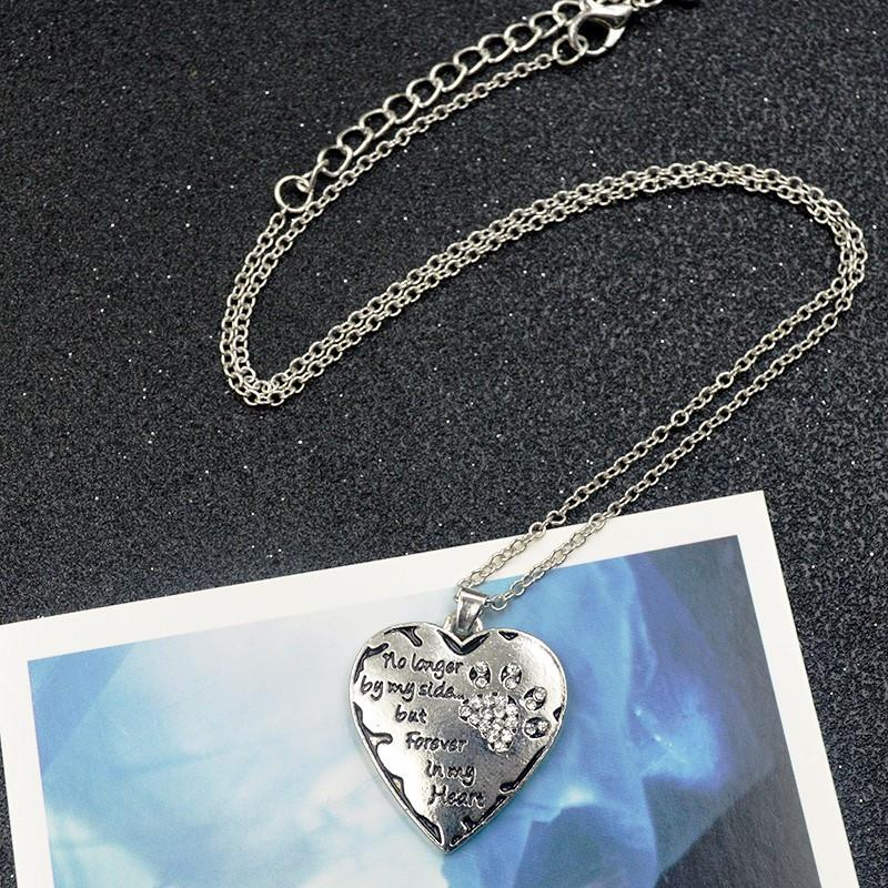 Forever in my heart crystal heart pendant necklace pawsupclub forever in my heart crystal heart pendant necklace aloadofball Gallery