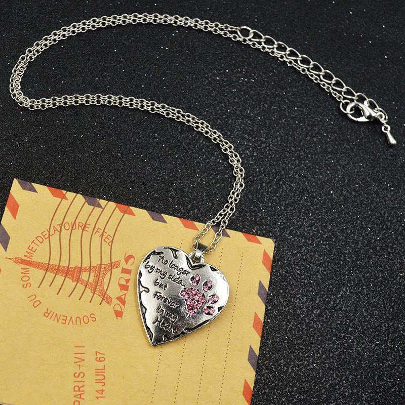 Forever in my heart crystal heart pendant necklace pawsupclub forever in my heart crystal heart pendant necklace aloadofball Choice Image
