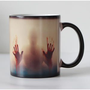 Black Ceramic Zombie Heat Color Changing Mug