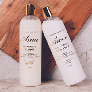 Argan Enriched Nourishing Shampoo and Conditioner - anneshairoilusaofficial