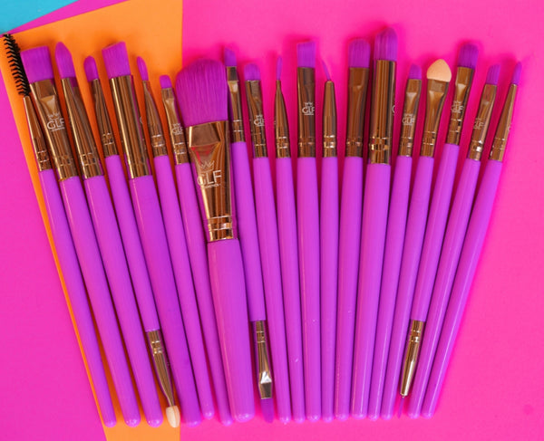 Neon Purple Detail Brush Set