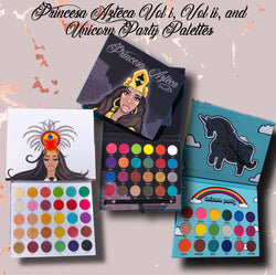 Princesa Azteca Vol i, Vol ii, & Unicorn Party Palettes Bundle