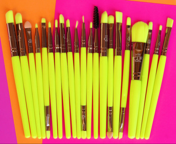 Neon Yellow Detail Brush Set