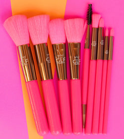 Neon Pink Full Face Brush Set