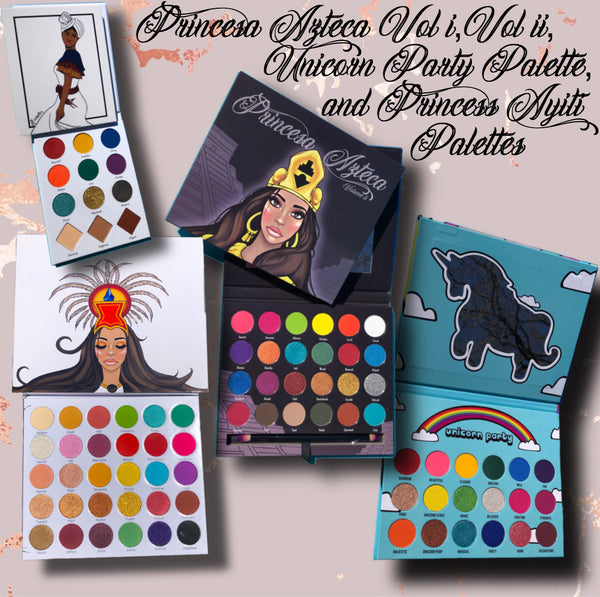 Princesa Azteca Vol i, Vol ii, Princess Ayiti & Unicorn Party Palettes Bundle