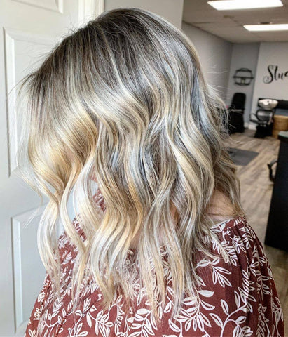 Wella Colour Charm Toner in T18 Lightest Ash Blonde to remove brassiness