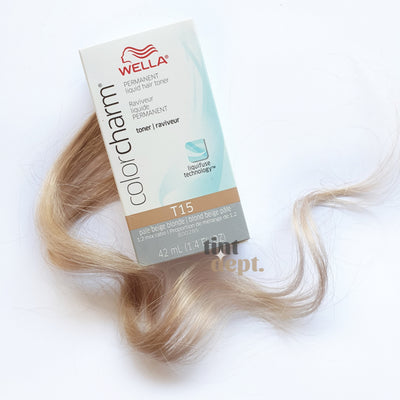 Wella Colour Charm T15 Pale Beige Blonde Tint Department Australia Professional Hair Dye