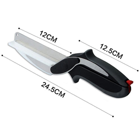 Image of Clever Cutter 2 In 1 Cutting Board And Knife Scissors - IGOGES