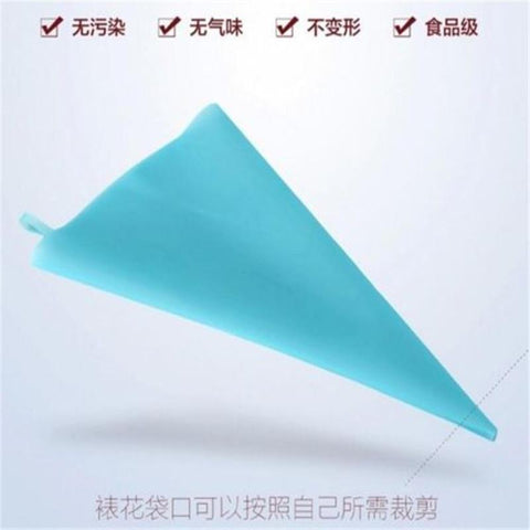 Image of Silicone Reusable Icing Piping Cream Bag Decor Tool 34cm