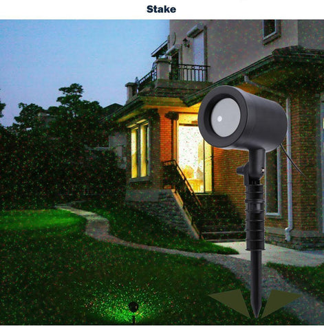 Image of Outdoor Laser Sky Star Spotlight Projector - IGOGES