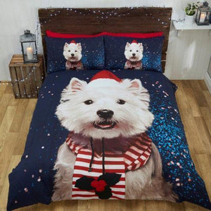 Christmas Westie Bedding Set - IGOGES