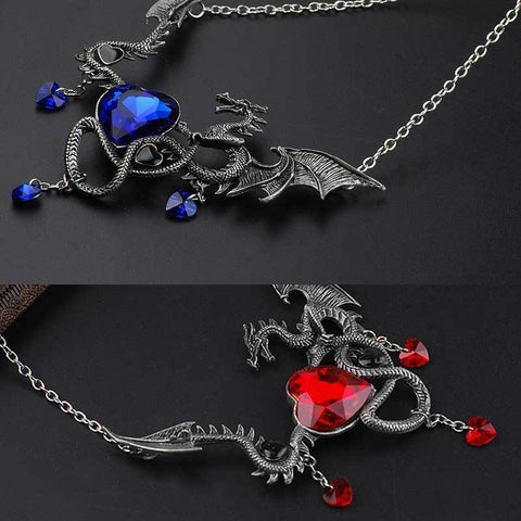 Image of Sapphire Dragon Necklace
